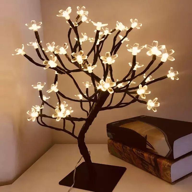 Led Cherry Blossom Tree Table Lamp 45cm 48 Led Led Lights Bd